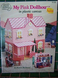 My Pink Dollhouse Plastic Canvas Patterns Doll House Furniture Bedroom