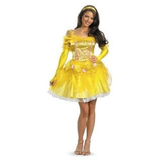 SASSY BELLE Adult Disney Costume Beauty & Beast Size 8 10 Disguise