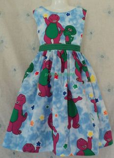 princess_trunk VHTF Barney w/Baby Bop Jumper Dress Custom Sz 12M 10Yrs