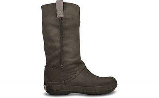 Crocs Womens Berryessa Boots Black and Espresso sz W4 W8