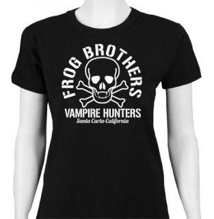 FROG BROTHERS VAMPIRE HUNTERS SKULL THE LOST BOYS LADIES CULT T SHIRT