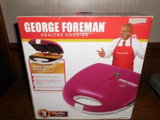 George Foreman Healthy Cooking Waffle Maker Pink NIB