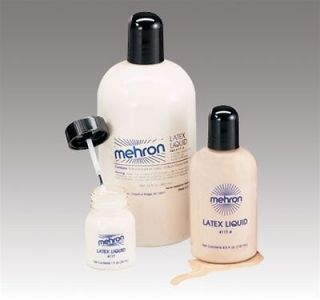 MEHRON LIQUID LATEX CLEAR FLESH BEIGE LIQUID LATEX MAKE UP 1OZ 4.5OZ