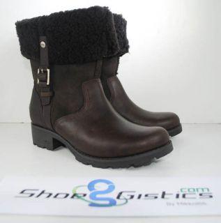 UGG BELLVUE II Boots 1914 NEW Sz 5 10 Black Espresso Chestnut