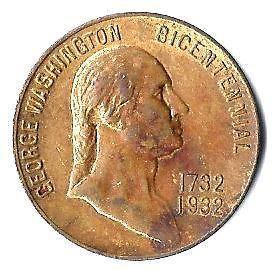 1932 GEORGE WASHINGTON BICENTENNIAL MEDAL   BIRTHPLACE WAKEFIELD