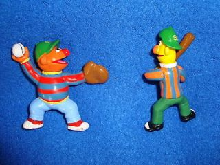 Sesame Street Bert and Ernie Baseball PVC Figure lot 2 pcs