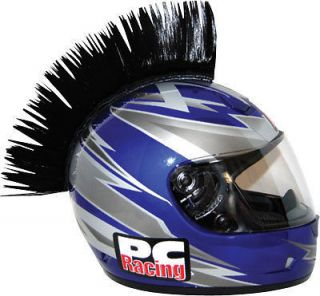 PC Racing Helmet Mohawk Street Bike Dirt Bike BLACK