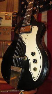 Vintage Original 1960s Supro Belmont Black Electric Guitar Sounds