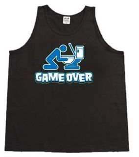 Game Over Funny Beer Pong Mens Tank Top Muscle t shirt