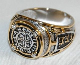 FRANKLIN MINT  Kings Ransom Diamond Mens Ring   Size 14