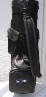 BELDING BLACK SYNTHETIC LEATHER GOLF BAG