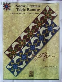 JINNY BEYER SNOW CRYSTAL TABLE RUNNER BLUE QUILT KIT FABRICIS