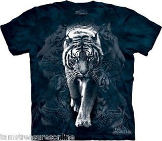 The Mountain Youth Big Cats Collection T Shirts #Y 3031 White Tiger