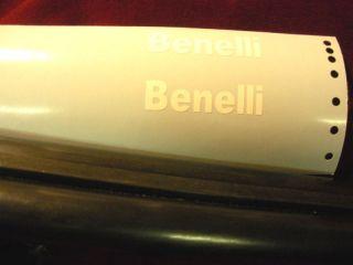 BENELLI BARRELL DECALS TRAP SHOTGUN SKEET BRIGHT WHITE