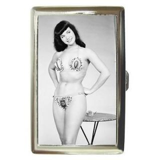 BETTIE PAGE SWEET BIKINI HOT Cigarette Money Case ID Holder or Wallet