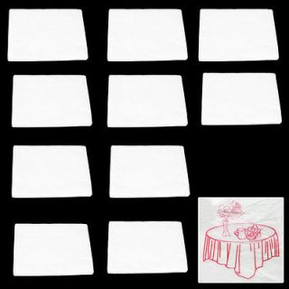10 Pieces Disposable PV Plastic Table Cloth Cover Clear White 71 x 71