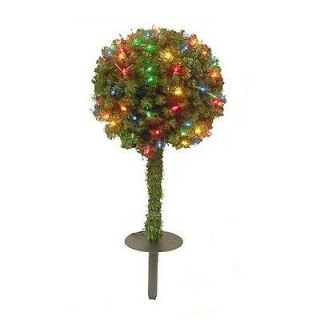 CHRISTMAS TOPIARY BALL TREE PRE LIT PRE STRUNG 135 BETHLEHEM LIGHTS