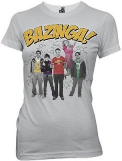 The Big Bang Theory Bazinga Group TV Show Womens Fitted SM T Shirt