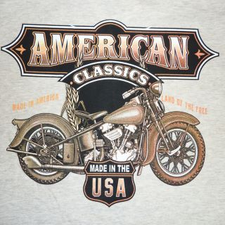 Hanes Biker Motorcycle Cycle American Classics T Shirt