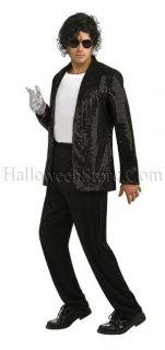 King Pop Billie Jean Deluxe Adult Jacket Black Sequin