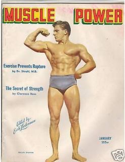 Vintage Muscle Power Bodybuilding fitness magazine Allan Paivio 1 48
