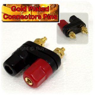 Double Banana Binding Post Adaptor Jack Male Audio Connector Plug