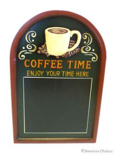 Coffee Time Kitchen Decor Menu Board Blackboard Signs Chalkboard Large