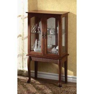 Elegant Curio Cabinet, birch wood veneer