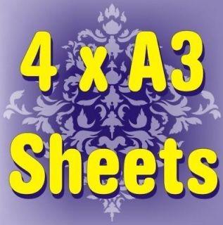 A3 Blank Mylar 4 Stencil Sheets Airbrush 457x305mm NEW