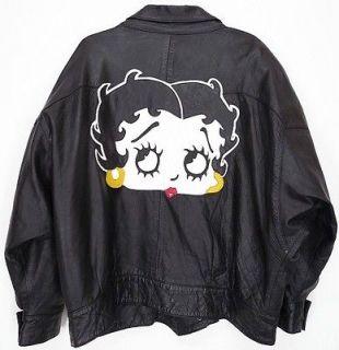 LEATHERS® City Coat BETTY BOOP JACKET Black XL Womens X LARGE
