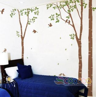 Decor Decal Sticker Mural vinyl DC0201 96High 2 colors birch tree