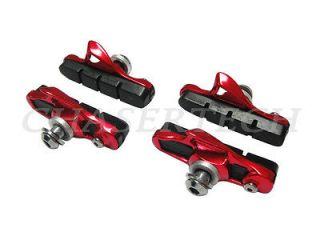 New Road Track Bicycle Bike Caliper Brake Cartridge Shoes Red