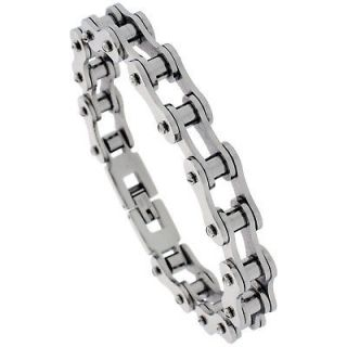 SOLID LINK STAINLESS STEEL BICYCLE CHAIN BRACELET bss62