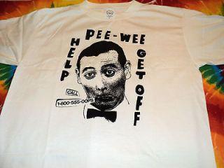 SCARCE NEW VINTAGE 1991 Pee Wee Herman Help Get Off T Shirt L