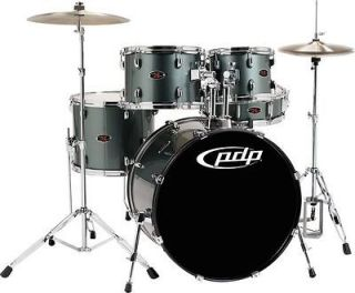 PDP Z5 5 Piece Drum Set with Cymbals Grey Metal