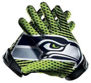 Seattle Seahawks Nike Vapor Jet 2.0 NFL Football Gloves Size Medium