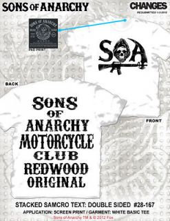NEW FOR 2012! SONS OF ANARCHY MOTORCYCLE CLUB SAMCRO STACKED BIKER SOA