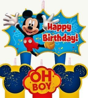 Mickey Mouse Birthday Cake Candles Set Decoration Toppers