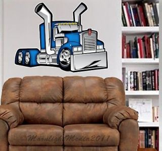Kenworth Big Rig Truck WALL GRAPHIC FAT DECAL MAN CAVE MURAL 2018