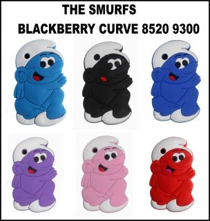 THE SMURFS SOFT SILICONE CASE COVER FOR BLACKBERRY CURVE 8520 9300