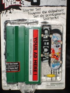 Tech Deck Starter Set WORLD IND boards case mini park