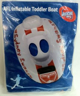 SYDNEY SWANS OFFICIAL AFL INFLATABLE TODDLER BOAT BRAND NEW (SUIT