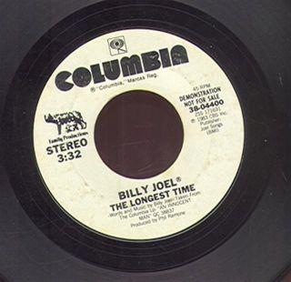 Billy Joel The Longest Time Columbia04400 PROMO VG  (45 8016)