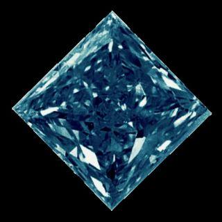 50 Carat Natural Blue Diamond   Loose Diamond Princess Cut I2/3