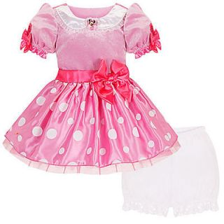 Pink MINNIE MOUSE Toddler Baby Costume Dress Bloomers