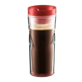 BODUM Travel mug, 0.45l/15oz with Red Lid (11042 294)