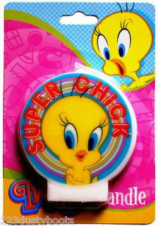 Tunes TWEETY BIRD Candle / Birthday Cake Candle / Party Supplies
