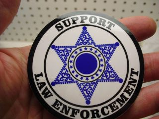 THIN BLUE BLACK LINE SUPPORT LAW ENFORCEMENT POLICE DECAL STICKER