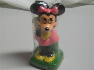 Vintage Pink Minnie Mouse Birthday Cake Candle NIP