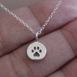 Itty Bitty Paw   Sterling Silver Paw Charm Necklace *NEW* Dog Cat